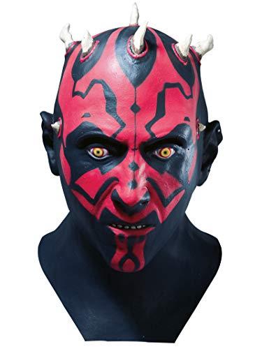 Rubie's Offizielles Star Wars Darth Maul Latex Vollkopf-Maske für Erwachsene
