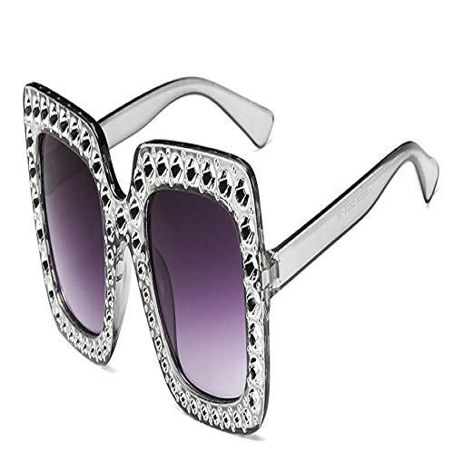 Moda Gafas De Sol Brillantes Gafas De Sol De Diamantes Mujeres Sombras Cuadradas Espejo Femenino Gafas De Sol Greygrey