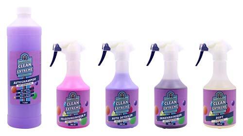 CLEANEXTREME Autopflege-Set Duft Bubblegum Groß - Autoreiniger & Pflegemittel