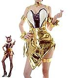 SKTE Game LOL - Disfraz de cosplay para mujer, color dorado, talla XL, color dorado