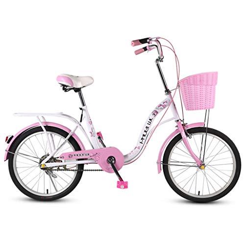 Bicicletas Niños Carro De Niña De 18 Pulgadas Plegable para Mujeres Silla De Paseo para Niños De 8 A 12 Años Ciclismo Al Aire Libre Scooter De Carretera para Niños El Mejor Re