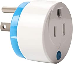 HAOZEE Z Wave Plus Mini Smart Power Plug Home Automation Zwave Outlet Energy Monitoring Works with Wink SmartThings & more,ETL Listed¡