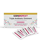 Triple Antibiotic Ointment Maximum Strength Skin Care by Sion Medical Value Pack Antibacterial Cream in Individual Packets for Cuts Scrapes Burns 0.031 oz (0.9g) 144 in Box First Aid Travel Size