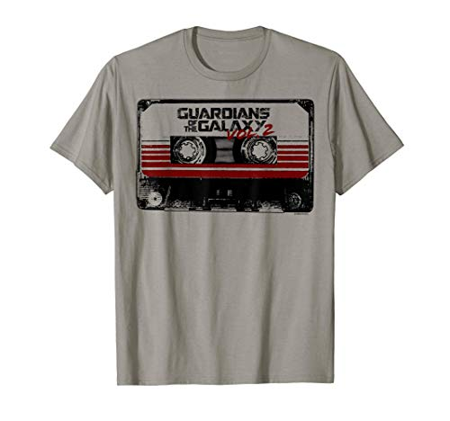 Marvel Guardians of the Galaxy 2 Cassette Graphic T-Shirt, 5 COlors for Adults