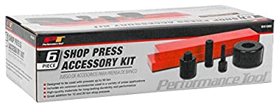 Performance Tool 6 Piece Shop Press Accessory Kit 1