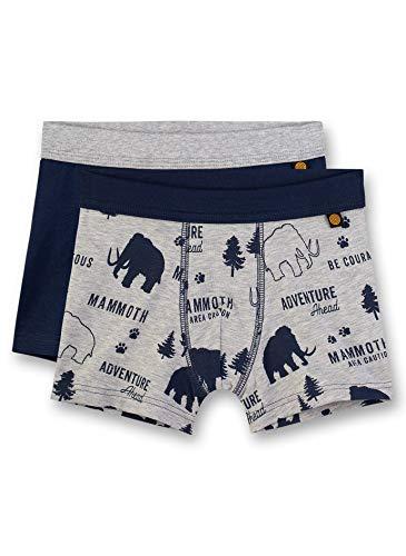 Sanetta Jungen Doppelpack Shorts, Grau (Metallic Mel. 1591), 92 (Herstellergröße: 092) (2er Pack)