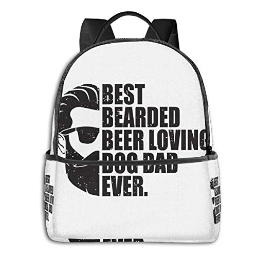 Best Ever Dog Gift Dadfashion School Backpack Unisex Classic Lightweight Backpack Printing Cute for Boys Girls High School College Schoolbag Sloth