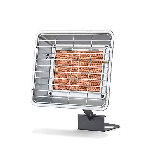 FAVEX - Radiant de Chantier au gaz à Poser 3500W - Extérieur - Brûleur céramique Infrarouge - 2 puissances de Chauffe - jusqu'à 25 m² - Acier