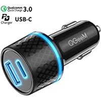 QGeeM 36W 2 Port Fast Car Charger