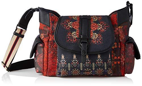 Desigual Womens Fabric Shoulder Bag, Black, U