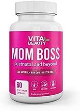 Mom Boss All Natural Post Natal Multivitamin Supplement - Postnatal Vitamins, Hair Growth, Digestive Enzyme, Hormone Balancer- 60 Vegetarian Capsules Included