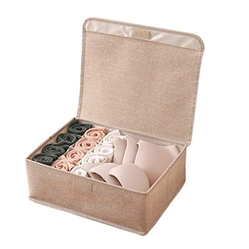 YULAN bewaardoos voor ondergoed van katoen met stoffen bekleding voor dames, ondergoed en sokken, opbergdoos, type XX