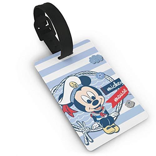 DNBCJJ Etiquetas de equipaje para maletas Sailor Baby Mickey Mouse etiqueta de equipaje, con nombre ID maleta para mujeres, hombres y niños accesorios de viaje