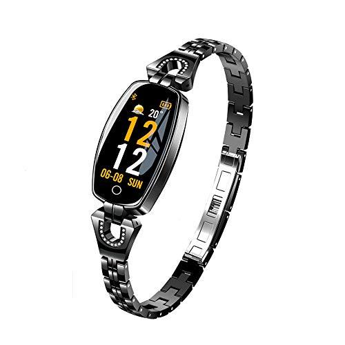 Fitness-Tracker mit Blutdruckmessgerät, Mode wasserdicht Smart Watch Strap Pulsmesser Schlaf Aktivität Armband Sport Schmuck Geschenke für Frauen Männer (1)