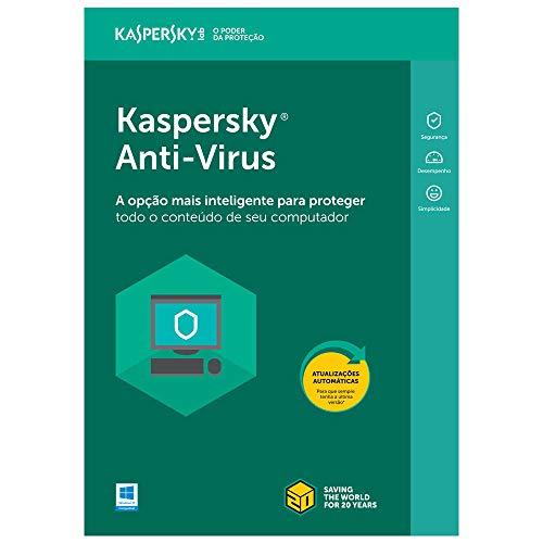 Kaspersky Anti-Virus 3 PC's - 1 ano (Digital - via download)