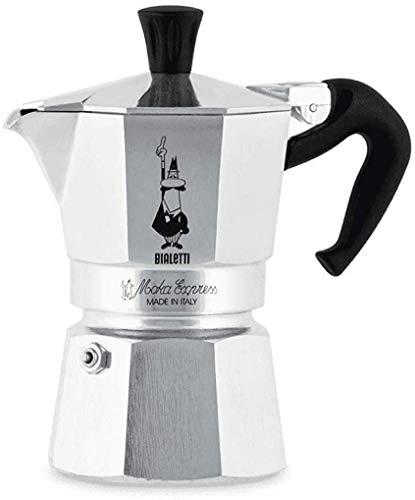 Bialetti Cafetière Moka Express 2tz, Stainless Steel, Silver, 8x11x11 cm