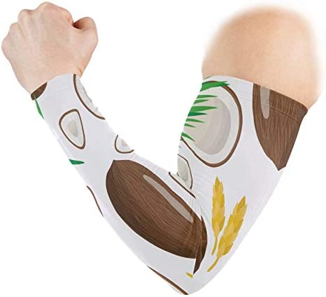 N W Biekaya Coconut Plam Leaves Arm Sleeves Cooling Sun UV Protection Compression Sleeves Arm product image