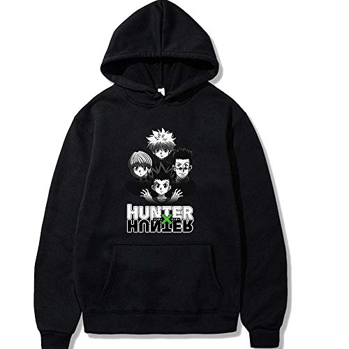 Cazador a Tiempo Completo de Dibujos Animados Anime japons Hunter x Hunter con Capucha Ouma Sudadera con Capucha para Hombre-Negro 2_Metro