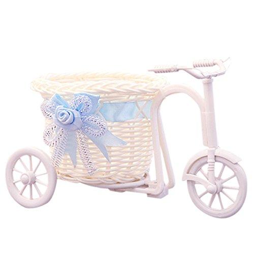 Meisijia Tricycle en Forme De Panier De Fleurs Cérémonie De Fête De Mariage Décoration Vélo Fleur Conteneur De Stockage, Violet
