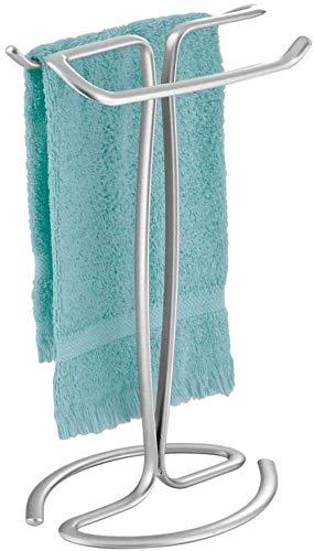 Minvo Handtuchhalter für Waschtische zum Ausstellen und Aufbewahren kleiner Handtücher oder Waschlappen-Chrom