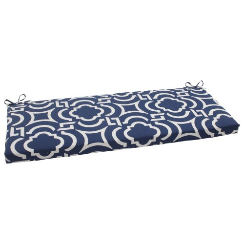 Pillow Perfect 500836 Outdoor/Indoor Carmody Navy Bench/Swing Cushion, Blue