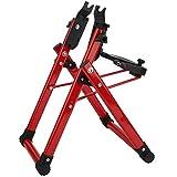 minifinker Estación de Ajuste de Accesorios para Bicicletas - Estación de Ajuste de aleación de Aluminio - Soporte de alineación de Ruedas para Bicicleta (Rojo)