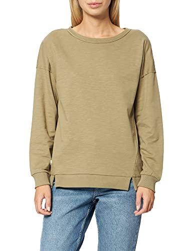 edc by ESPRIT Damen 990CC1J301 Sweatshirt, 350/KHAKI Green, M