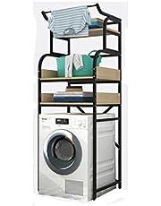 Opbergrek Wasmachine Rack Flip Toilet Badkamer Wave Wiel Keukenrekken, Planken, ree-layer Drum Vloer Meerlaags Balkon zwart-A