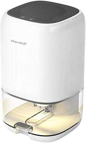 AUZKIN Small Dehumidifier for 2200 Cubic Feet 260 sq ft 35oz 1000ml Capacity Portable and Quiet product image