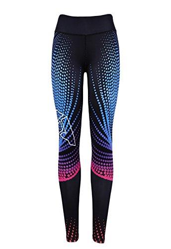 FITTOO Mallas Pantalones Deportivos Leggings Mujer Yoga de Alta Cintura Elásticos y Transpirables para Yoga Running Fitness con Gran Elásticos890 Negro M