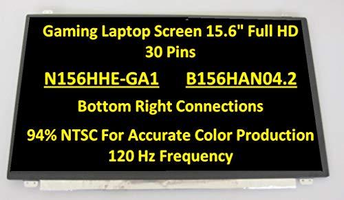"BLISSCOMPUTERS 15.6"" 3D 120HZ LED LCD Screen N156HHE-GA1 for MSI GT62 GE63 GS63 edp30pin FHD"