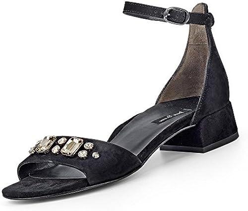 Paul Grün Damen Velours-Sandalette Velours-Sandalette Velours-Sandalette  angemessener Preis