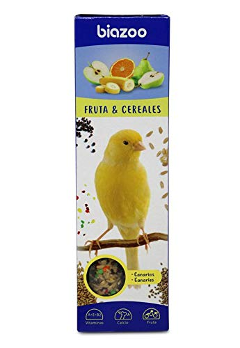 biozoo - Barritas de Fruta & Cereales para Canario - Pack 5 Unidades ⭐