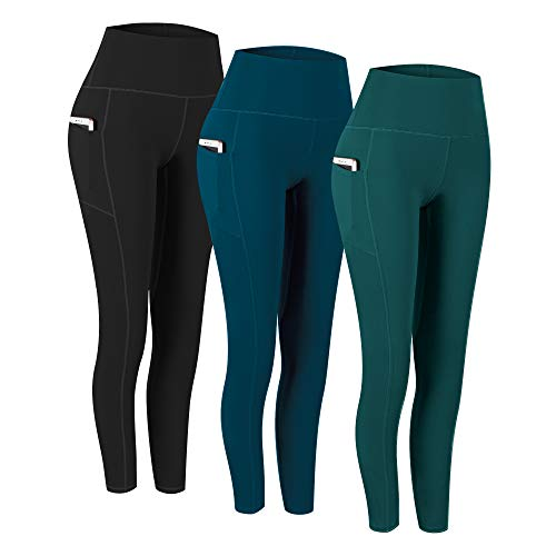 Fengbay 3 Pack High Waist Capris,Yoga Pants for Women Tummy Control Workout Pants 4 Way Stretch Leggings with Pockets