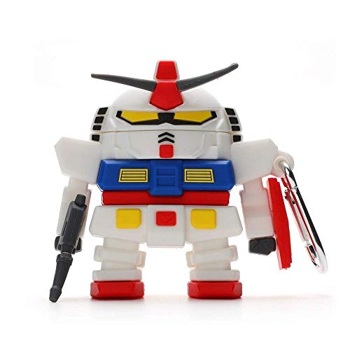 Anime for Airpods 1/2 Case Cute Robot Gundam Earphone Case Anime for AirPods 3 Pro Wireless Bluetooth Headphone Soft Silicone Cover (for AirPods 12)