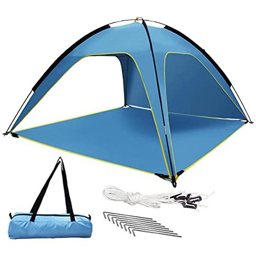 Kidnefn Playa Ventilada Tienda 3-4 Persona, Refugio de Playa Portátil Protección Solar Carpa, Tienda de protección UV, para jardín de Playa Camping 210 * 210 * 130