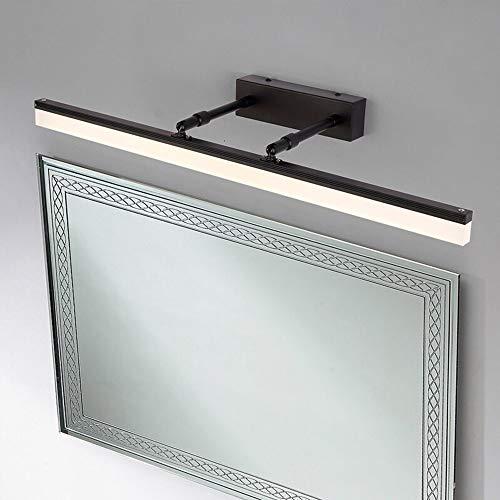 Industrielle Beleuchtung Make-up-Spiegel Kosmetiktisch Badezimmer Rotating Waschbecken Lampe Wasserdichte LED-Lampe (Color : Black-white)