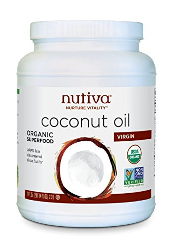 Nutiva Organic Cold-Pressed Virgin Coconut Oil, 78 Ounce