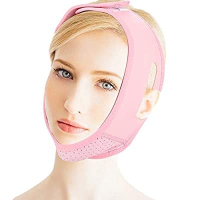 Facial Slimming Mask, Adjutable V Line Lifting Slim Belt Neck Compression Double Chin Strap Weight Loss Belts Skin Care Chin Bandages Wrap