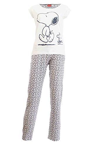 Damen Pyjama Schlafanzug Nachtwäsche 271249 Peanuts/Snoopy L 44-46