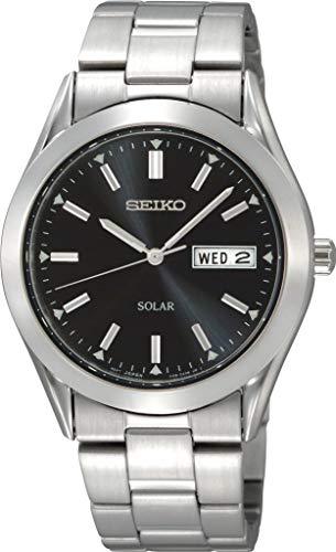 Seiko Solar SNE039P1 Reloj Elegante para Hombres Retro
