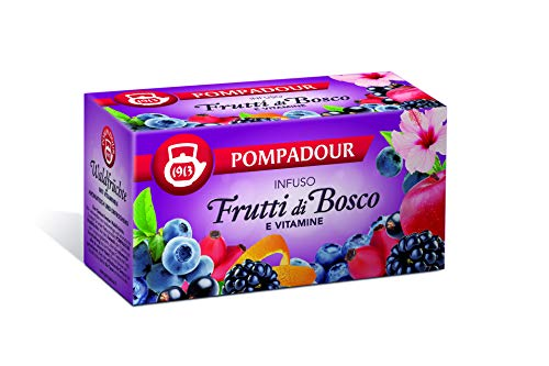 Pompadour - Infuso Mix Frutti Di Bosco, Aromatizzato Con Vitamine - 20 filtri - [confezione da 3]