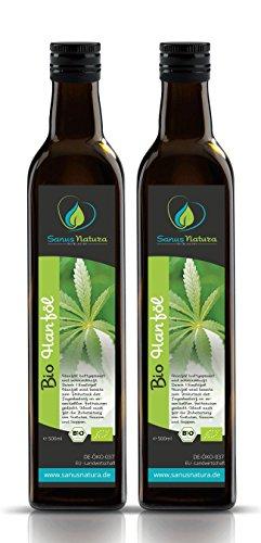 Sanus Natura Bio Hanföl 1000ml Glasflasche