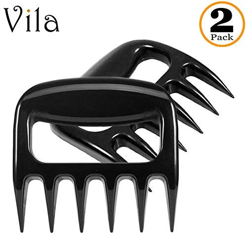 Vila Meat Shredder Claws, 5x4 Inches, Lift, Shred, and Cut Meats, BBQ Experts' Favorite Tool, Heat-Resistant Up to 250°F, With Ultra-Sharp Blades, 2 Pack