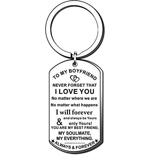 TTOVEN Boyfriend Keyring From Girlfriend Love Keyrings to My Boyfriend Couples Key Ring Keychains Wedding Gifts for Boyfriend Anniversary Valentines Day
