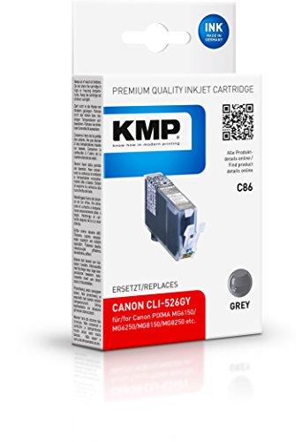 KMP C86 Gris Cartucho de Tinta - Cartucho de Tinta para impresoras (Gris, Canon Pixma MG 6250, MG 8150, MG 8240, MG 8250, MG 6150, Inyección de Tinta, 1 Pieza(s), Caja)
