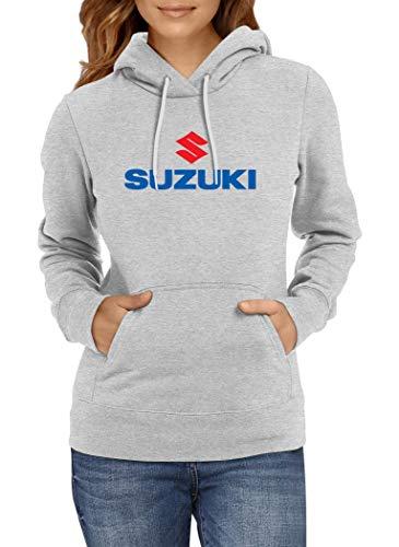Sudaderas con Capucha Suzuki Logo Women Mojer Hoodie Sweatshirt Car Auto tee Black Grey Long Sleeves Present Christmas