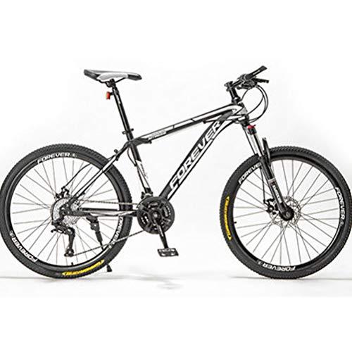 21 velocità Mountain Bike, Bici da Strada con Assorbimento degli Urti 24/26 / 27,5 Pollici, Mountain MTB Bike in Acciaio al Carbonio, Outroad Mountain Bike per Adolescenti Adulti,Black White,27.5inch