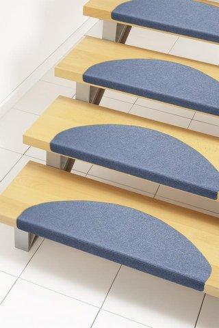 andiamo Alfombrilla para escaleras (autoadhesiva, fácil de Limpiar, 15 Unidades, 23 x 65 cm), Color Azul, 290332