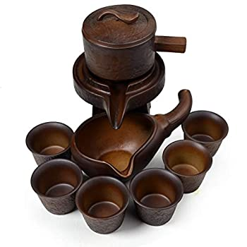 Teapot Teacup Set Chinese Dragon Gongfu Tea Tools Pot Cups Semi-automatic millstone Fengshui